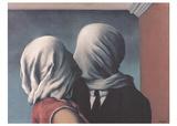 Les Amants (Lovers) Kunstdrucke von Rene Magritte