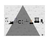 Thinker Collection STEM Art by Lisa C Clark - Physics Symbols 1 Fotografická reprodukce