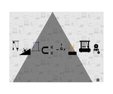 Thinker Collection STEM Art by Lisa C Clark - Physics Symbols 1 - Fotografik Baskı