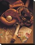 Baseball I Opspændt lærredstryk af Michael Harrison