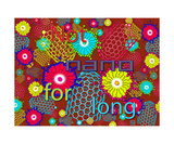 Not Nano for Long RED Photographic Print by Thinker Collection STEM Art by Lisa C Clark