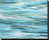 Shifting Light on the Bay Stretched Canvas Print by Jessica Torrant