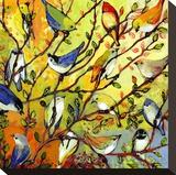 16 Birds Impressão em tela esticada por Jennifer Lommers