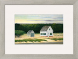 October on Cape Cod Framed Giclee Print by Edward Hopper