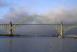 Yaquina Bay Bridge Spanning the Yaquina Bay at Newport, Oregon, USA Photographic Print by David R. Frazier