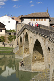 Roman Bridge Spanning the Arga River, Puente La Reina, Navarra, Spain Photographic Print by David R. Frazier
