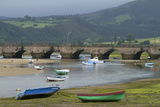 Fishing Boats at Low Tide, San Vicente De Al Barquera, Spain Photographic Print by David R. Frazier