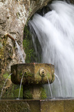 Fountain at the Holy Cave of Covadong, Asturias, Northern Spain Photographic Print by David R. Frazier