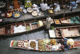 Thailand, Bangkok, Floating Market Photographic Print by David R. Frazier