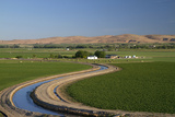 Farmland and Irrigation Canal Near Vale, Oregon, USA Photographic Print by David R. Frazier