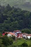 Colorful Houses Near Las Rozas, Asturias, Spain Photographic Print by David R. Frazier