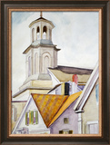 Church Steeple and Rooftops Framed Giclee Print by Edward Hopper