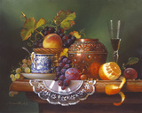 Still Life with Fruit I Giclee Print by Raymond Campbell