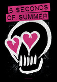 5 Seconds Of Summer- Skull Logo Poster