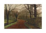 An Autumnal Day, Stapleton Park Premium Giclee Print by John Atkinson Grimshaw