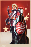 Fallout 4- Nuka Cola Pin Up Kunstdruck