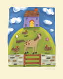 Purple Farmhouse Giclee Print by Sophie Harding