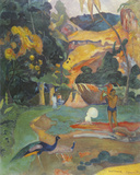 Landscape with Peacocks Giclee Print by Paul Gauguin