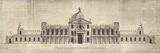 Design for a Palace in the County of Oxfordshire Art by  School of Padua