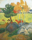 Little Breton with Goose, 1889 Giclee Print by Paul Gauguin