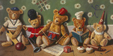 Playschool Giclee Print by Raymond Campbell