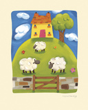 Yellow Farmhouse Giclee Print by Sophie Harding