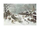 Winter Premium Giclee Print by Lucas Van Valkenborch