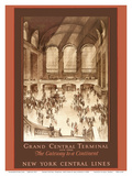 Grand Central Terminal, New York - The Gateway to a Continent - New York Central Lines Prints by Earl Horter