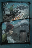 30 Days of Night: Volume 1 Beginning of the End - Comic Page with Panels Poster by Sam Kieth