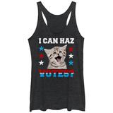 Juniors Tank Top: Can Haz Votes? T-Shirts