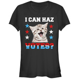 Juniors: Can Haz Votes T-Shirt