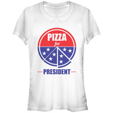 Juniors: Pizza For Prez T-Shirts