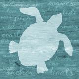Coastal Wonder with Words IV Print van Julie DeRice