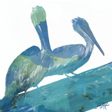 Watercolor Pelican Square II Posters by Julie DeRice