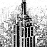 Empire State Sketch Prints by Shelley Lake