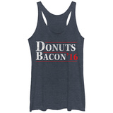 Juniors Tank Top: Donuts N Bacon 16 T-Shirt