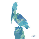 Watercolor Pelican Square I Prints by Julie DeRice
