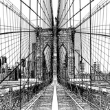 Brooklyn Bridge Sketch Poster by Shelley Lake