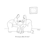 """It's not you, Adam. It's men."" - New Yorker Cartoon Premium Giclee Print by Liana Finck"