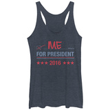 Juniors Tank Top: Me For Prez T-Shirt