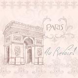 Elegant Paris Square II Poster by Linda Baliko