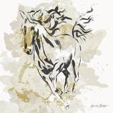 Free Spirit in Gold I Poster by Linda Baliko