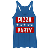 Juniors Tank Top: Pizza Party Shirt