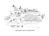 """If you splash, expect to be splashed back."" - New Yorker Cartoon Premium Giclee Print by Michael Maslin"