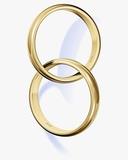 Two interlocked wedding rings Photographie par Matthias Kulka