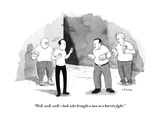 """Well, well, welllook who brought a taco to a burrito fight."" - New Yorker Cartoon Premium Giclee Print by Emily Flake"
