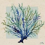 Indigo Coral on Cream I Prints by Elizabeth Medley