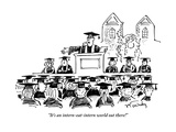 """It's an intern-eat-intern world out there!"" - New Yorker Cartoon Premium Giclee Print by Mike Twohy"