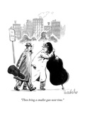 """Then bring a smaller gun next time."" - New Yorker Cartoon Premium Giclee Print by Liam Walsh"