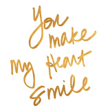 You Make My Heart Smile (gold foil) Prints by Sd Graphics Studio